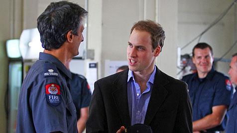 William besucht Erdbebenopfer in Neuseeland