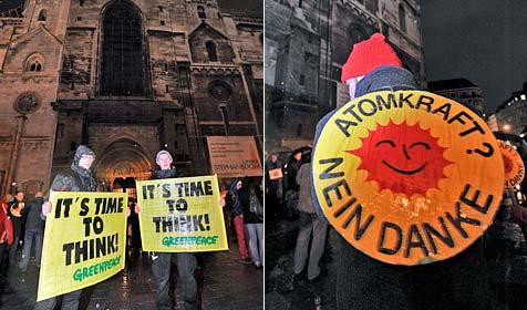Demos für Automausstieg in Wien und Salzburg (Bild: APA/HERBERT NEUBAUER)