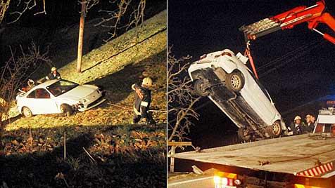 Alkolenker flüchtet nach Crash zu Fuß - geschnappt (Bild: FF Mittersill)