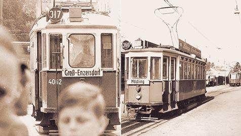Wiener Öffis fuhren schon einmal nach Niederösterreich (Bild: Fritz Schimke, Gerhard Kunze)