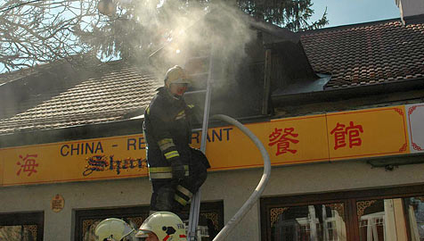 Küchenbrand in China-Restaurant in Perchtoldsdorf (Bild: BFK Mödling)