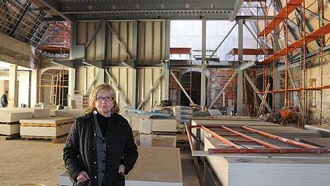 Wiederaufbau des Ursulinenhofs schreitet voran (Bild: Koller)