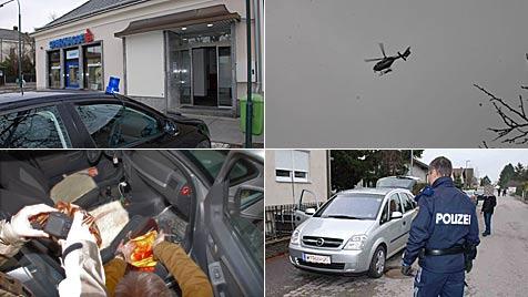 Bewaffneter überfällt Bankfiliale in Pfaffstätten (Bild: Thomas Lenger)