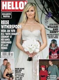 So schön war Reese Witherspoon bei ihrer Hochzeit (Bild: Hello Magazine)