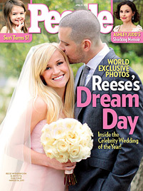 So schön war Reese Witherspoon bei ihrer Hochzeit (Bild: People Magazine)