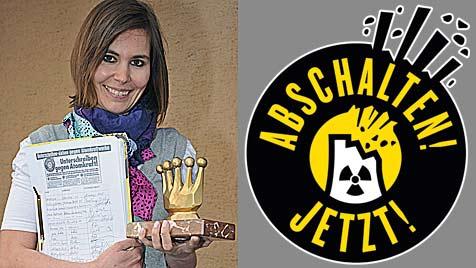 """""""Goldene Krone"""" für Unterschriften-Sammlerin (Bild: Wolfgang Weber)"""
