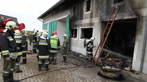 Großbrand auf Hof in Sipbachzell verhindert (Bild: Matthias Lauber)