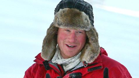 Prinz Harry steckt am Nordpol fest - Heimflug unmöglich (Bild: EPA)