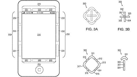 Apple-Geräte laut Patent künftigt mit zwei Touchscreens (Bild: Apple, US Patent & Trademark Office)