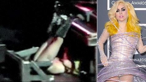 Autsch! Lady Gaga sorgt in Houston für Bühnen-Hoppala (Bild: Zoom.in EPA)