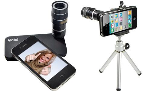 Rollei stellt Teleobjektiv fürs Apples iPhone 4 vor (Bild: Rollei)
