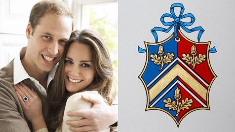 Kate Middleton hat nun ein eigenes Familienwappen (Bild: AFP, CLARENCE HOUSE, MARIO TESTINO)