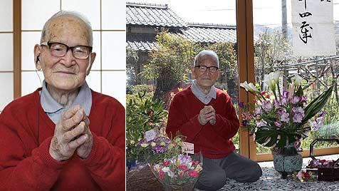 Ältester Mann der Welt feiert in Japan 114. Geburtstag (Bild: AFP)