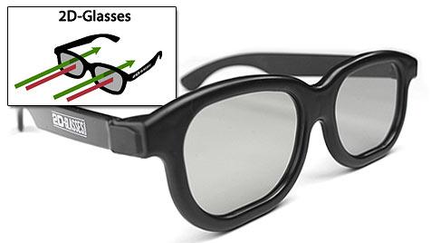 Ohne Kopfschmerz im Kino dank 2D-Brille (Bild: 2d-glasses.com)
