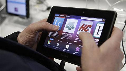 """Schleppender Verkaufsstart für RIMs """"PlayBook"""" (Bild: AP)"""