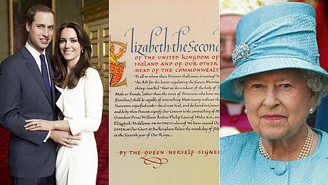Paar bei Dianas Grab ++ Queen erlaubt Hochzeit (Bild: AP)