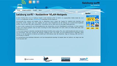 Kostenloses Internet dank dreier WLAN-Hostpots (Bild: salzburg-surft.at)