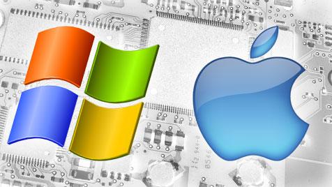 So ticken Mac- und PC-Nutzer laut Studie wirklich (Bild: Microsoft, Apple, krone.at-grafik)