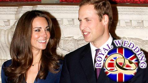 Kate und William bei letzter Probe für die Traumhochzeit (Bild: EPA)