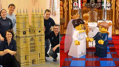 Royal Wedding mit Lego-Steinen nachgebaut (Bild: LEGO)