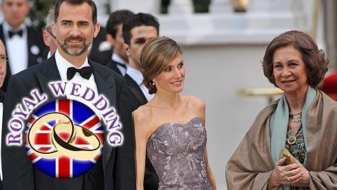Dürre Letizia von Spanien beim Dinner der Queen