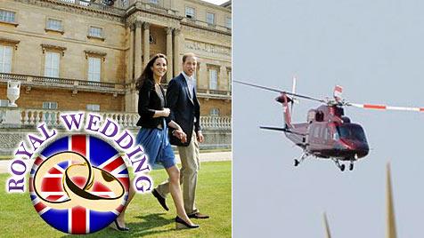 Kate und William fahren noch nicht in die Flitterwochen (Bild: AP)