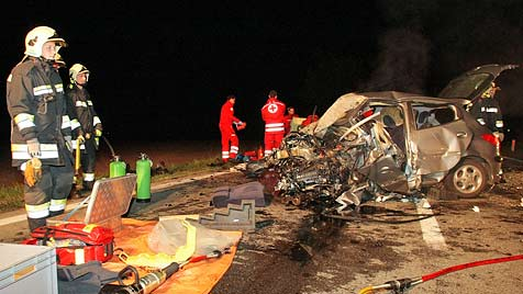 Tödlicher Crash auf der S5 (Bild: Einsatzdoku.at)