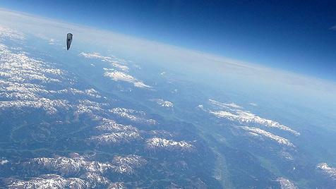 Entwischter Ballon ist am Weg nach Griechenland (Bild: APA/BUNDESHEER)