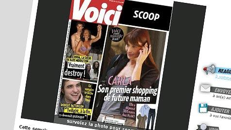 Schwangerschafts-Gerüchte um Bruni verdichten sich (Bild: Screenshot: www.voici.fr)