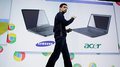 Google greift Microsoft mit Chrome-Laptops an (Bild: AP)