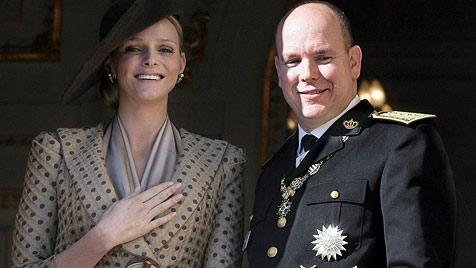 Charlene und Albert - so wunderschön wird ihre Hochzeit (Bild: EPA)