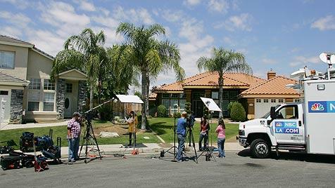 """In diesem Haus lebt angeblich Arnies """"Terminatörchen"""" (Bild: AP)"""