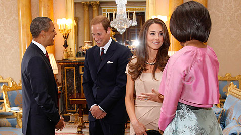 Prinz William und Kate treffen Barack und Michelle Obama