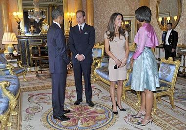 Trendsetterin Kate: Sturm auf Kleid von Treffen mit Obamas (Bild: EPA)