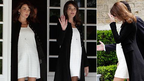 Bruni-Sarkozy: Madame schiebt eine ruhige Kugel (Bild: AFP, AP)