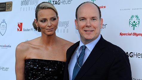 Charlene und Albert stahlen den Stars in Monaco die Show (Bild: EPA)