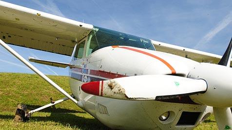 Pilot muss Cessna mit 4 Passagieren an Bord notlanden (Bild: salzi.at)