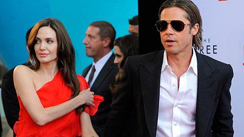 Brad Pitt heizt Gerüchte um baldige Hochzeit an (Bild: AP)