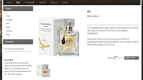 "Island: Designerin kreiert  ""Grimsvötn-Parfüm"" (Bild: http://www.gydja.is/)"