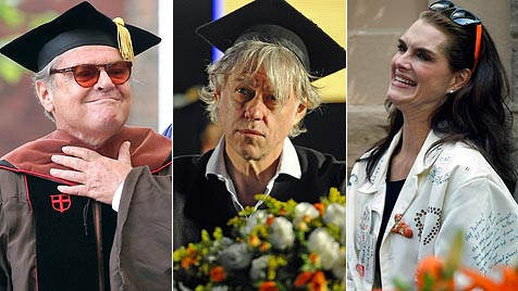Mit Talar und Hut: Akademische Ehren für Nicholson & Co. (Bild: AP AFP)