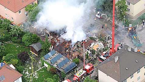 Verfahren nach Gas-Explosion in St. Pölten eingestellt (Bild: APA/ÖAMTC)