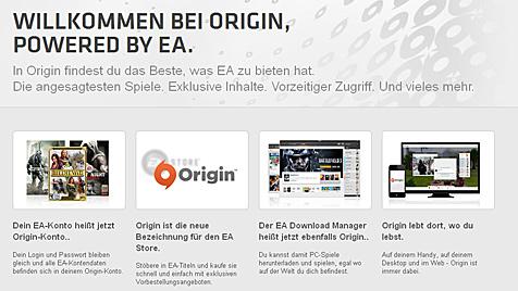EAs Spieledienst Origin spioniert laut Fachmagazin nicht (Bild: Electronic Arts)