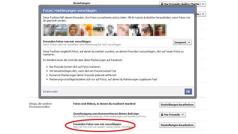 Druck auf Facebook: EU untersucht Gesichtserkennung (Bild: facebook.com)