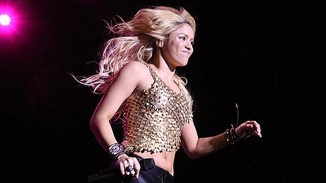Shakira hatte Fußball-Star Piqué im Gepäck (Bild: Christian Jauschowetz)