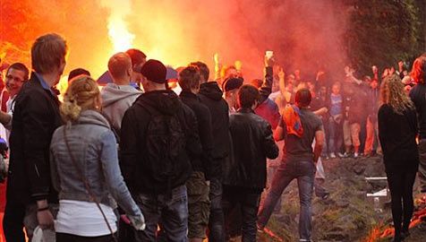 Facebook-Party in Deutschland sorgt f�r Gro�einsatz (Bild: AP)