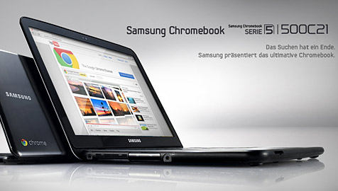 Start für Googles Chromebook in Deutschland (Bild: Screenshot Samsung)