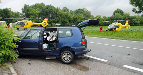 Drei Kleinkinder bei zwei Unfällen verletzt (Bild: FF Himberg)