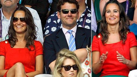 Pippa ist Trend - und ihr rotes Kleid bereits ausverkauft (Bild: EPA AP)