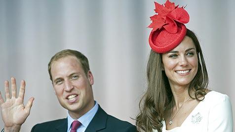 Kate verzaubert Kanadier mit Outfit in Landesfarben (Bild: EPA)