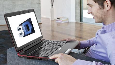 Erstes brillenfreies 3D-Notebook von Toshiba (Bild: Toshiba)